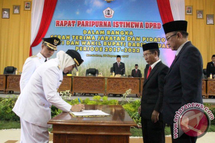 Jabatan Bupati -Wakil Bupati Batola Diserahterimakan