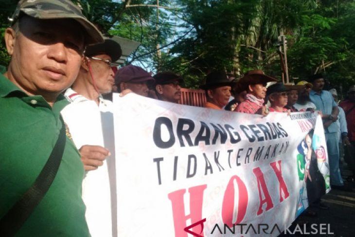 Elemen Masyarakat Kalsel Bersatu Deklarasi Anti Hoax