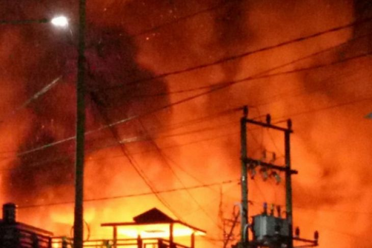 Dozens houses in Kotabaru catch fire