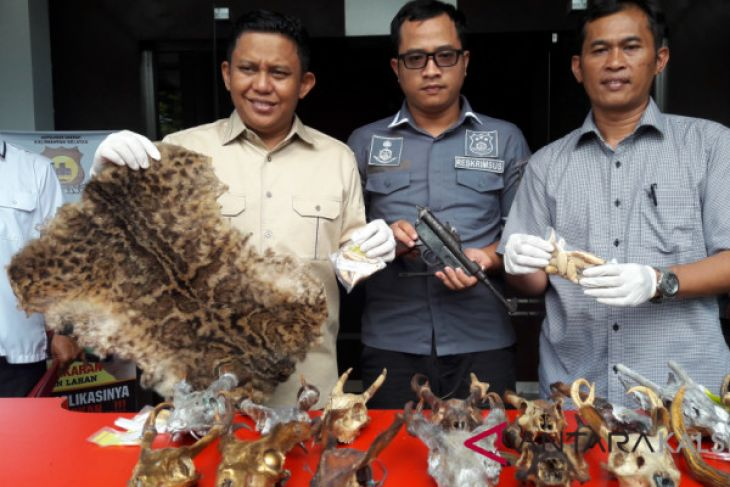 South Kalimantan police uncover protected animals trade