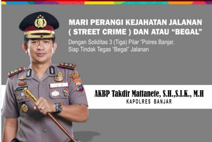 Polres Banjar Siap Binasakan Penjahat Jalanan