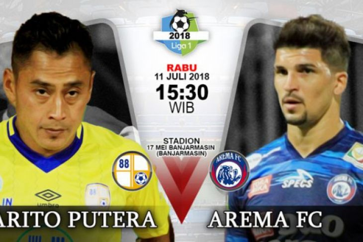 Sepak bola- Pertandingan Barito VS Arema Tanpa Gol