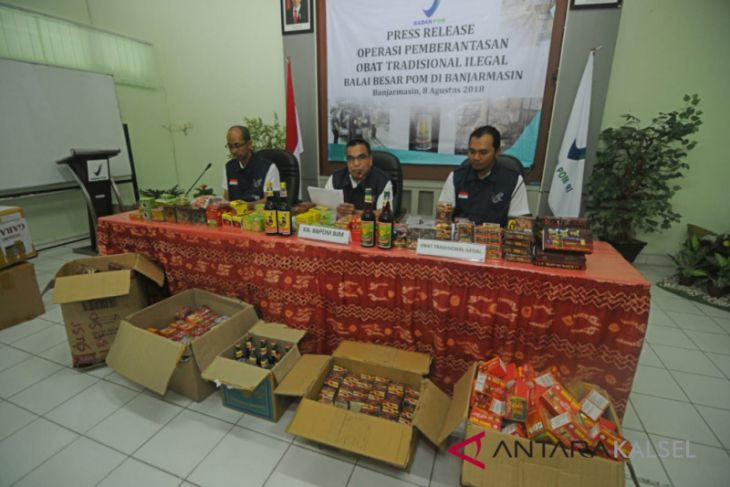 BPOM dismantles illegal traditional medicines warehouse in Tanah Bumbu