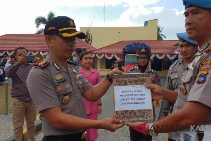 Polres Banjar bantu korban gempa Lombok