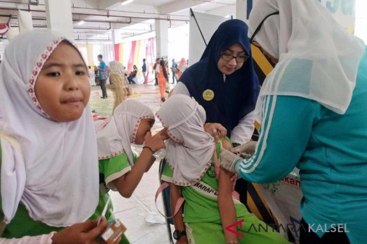 Siswa SD Banjar antusias ikuti imunisasi Rubella