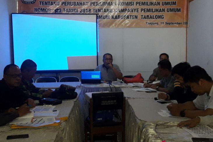 KPU Tabalong Sosialisasikan Pelaksanaan Kampanye Pemilu 2019
