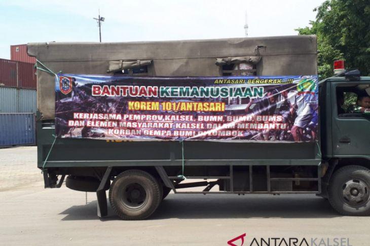 Korem 101/Antasari kembali kirim bantuan untuk korban gempa Lombok