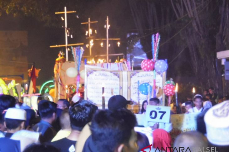 Banjarmasin gelar  carnaval malam tahun baru