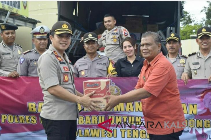 Banjarbaru Police send humanitarian assistance to Palu