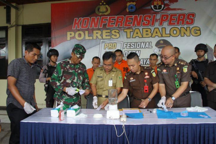 Polres Tabalong musnahkan Barbuk hasil operasi Oktober 2018
