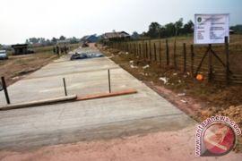 123.145 meter jalan perdesaan dibangun dengan dana desa
