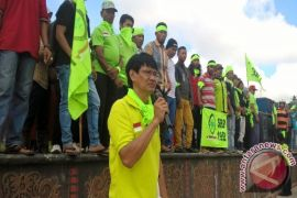 Aksi Buruh di Samarinda Suarakan Lima Tuntutan