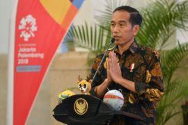 Presiden Jokowi minta puluhan artis promosikan Asian Games