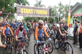 Ribuan peserta Ikuti Gowes sehat HUT TNI di Paser