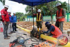 Bekas galian sambungan gas  Penajam terbengkalai