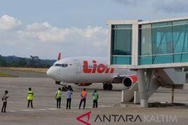 Lion Air uji coba pesawat di Bandara Samarinda