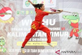 Atlet Kutim Wushu Koleksi Lima Emas