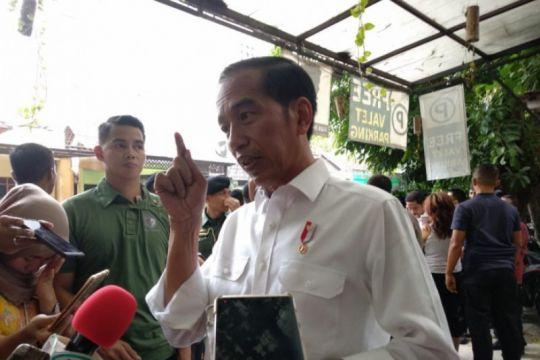 Jokowi: masyarakat jangan terpecah belah dalam pesta demokrasi