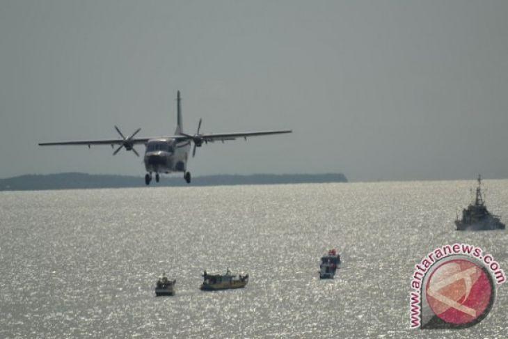 Alutsista TNI AL sedang berpatroli di perairan Indonesia-Malaysia