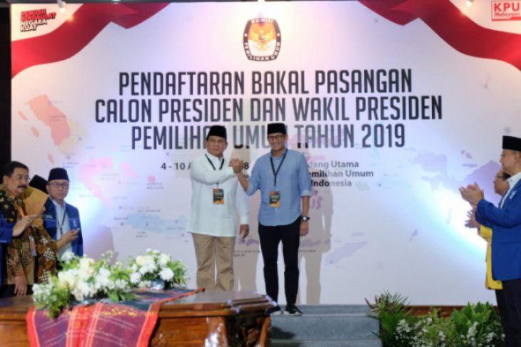KPU nyatakan dokumen pendaftaran Prabowo-Sandiaga lengkap