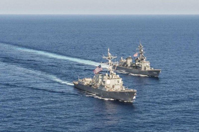Dukungan kepada Taiwan ? Kapal perang AS melintasi Selat Taiwan