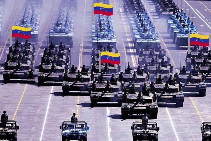 Ingatkan AS, Venezuela unjuk kekuatan militer