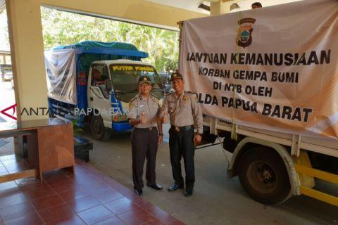 Polda Papua Barat salurkan bantuan untuk Lombok