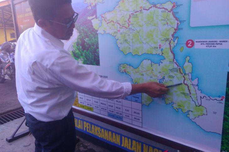 Pembangunan jalan trans Papua Barat 2019 fokus pengaspalan dan jembatan