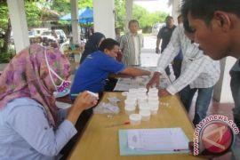Polda Sumut mengetes urine sopir
