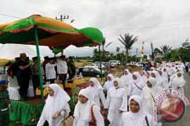 Ribuan Kafilah Meriahkan Pawai Taaruf MTQ Tapanuli Selatan