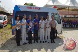 Jasa Raharja Sumut Sumbang Ambulans RS Bhayangkara