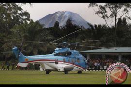 Presiden Gunakan Helikopter Menuju Bandara Silangit