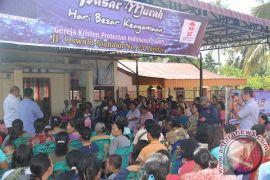 Kemendag Bagi 2.000 Paket Natal di Sibolga-Tapteng