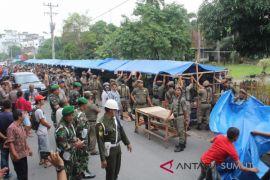 Pol PP Asahan Tertibkan Lapak Pedagang Jalan Sutomo