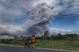 Lima kecamatan terpapar debu vulkanik Sinabung