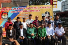 KPU Padangsidimpuan tetapkan tiga paslon