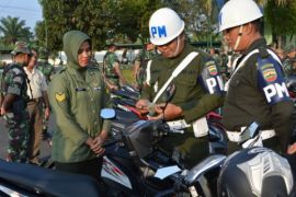 Denpom razia kelengkapan kendaraan prajurit