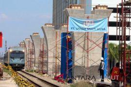 Jembatan stasiun kereta api Medan akan dioperasikan