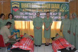 Korem 022 Pantai Timur donor darah