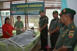 Aksi donor darah warnai HUT Persit