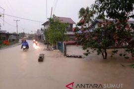 Pemukiman warga terendam