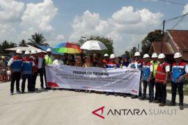 Pertamina perbaiki jalan Langkat Rp2,2 miliar