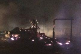 Gudang racipan kayu ludes terbakar