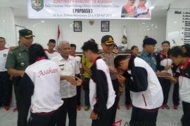Wakil Bupati Asahan lepas kontigen Popdasu