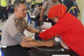Donor darah warnai HUT Lalu Lintas Bhayangkara ke-63