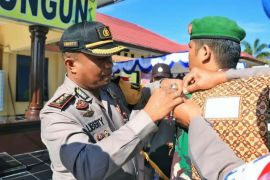 Polisi gelar pasukan pengamanan pemilu di Simalungun