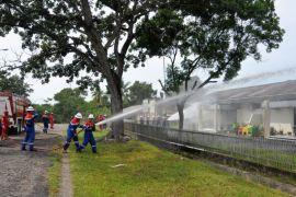 Pertamina Pangkalan Susu Gelar Simulasi Penanganan Kebakaran