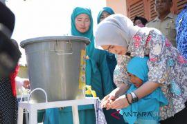 PKK ajak anak paud cuci tangan pakai sabun