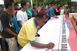 Masyarakat sibolga selatan deklarasikan pilkada damai