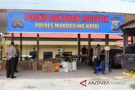 Polres Madina salurkan bantuan ke Pantai Barat